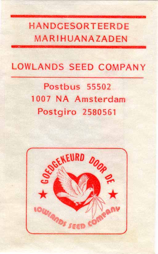The first commercial Sinsemilla seeds bags